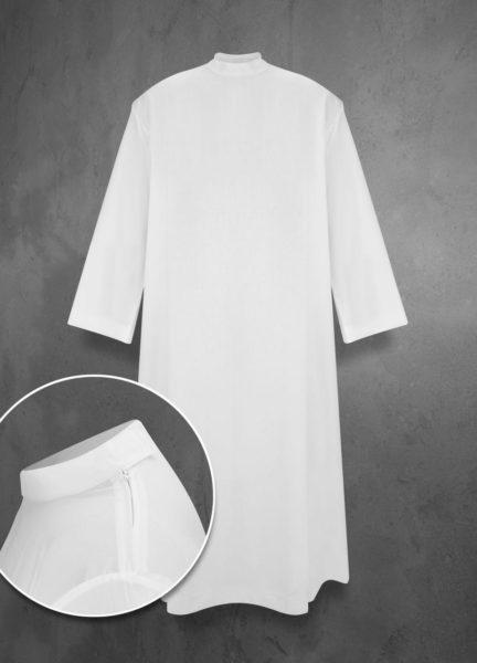 Alba liturgiczna strecz BEZ ZAKŁADEK (suwak na ramieniu)