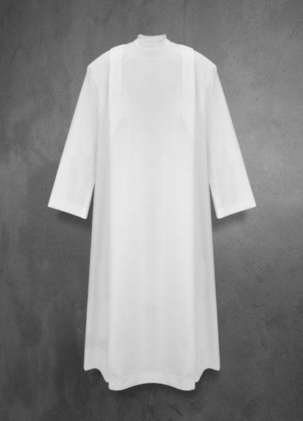 Alba liturgiczna strecz z zakładkami (suwak na ramieniu)