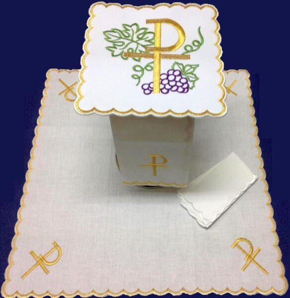Bielizna kielichowa haft P winogron